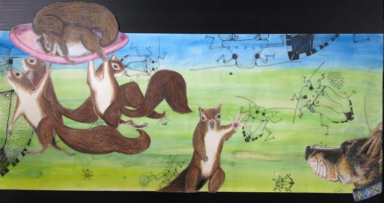 sheba: death of a squirrel IMG_0613